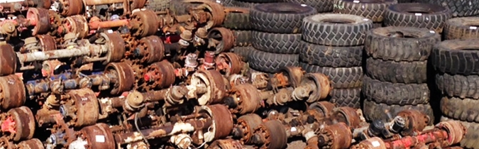 Wide range of used truck parts
